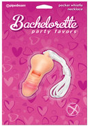 Bachelorette Party Favors Pecker Whistle Necklace Pink